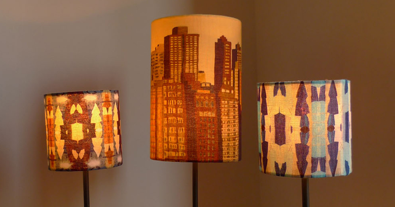 All lampshades are printed on linen and handmade specially to order in the UK