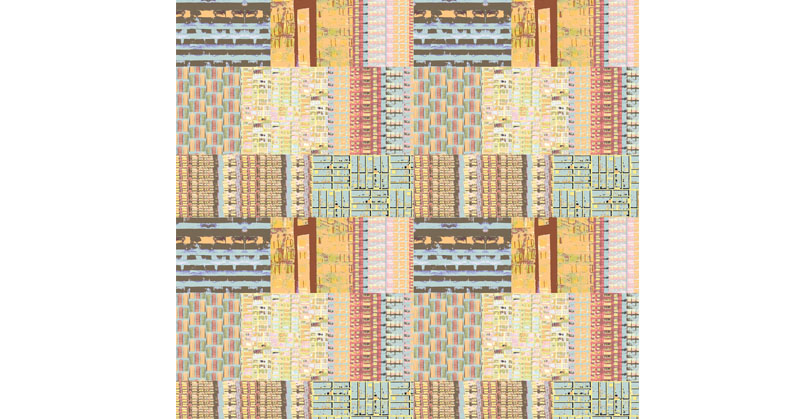 New York Patchwork wallpaper